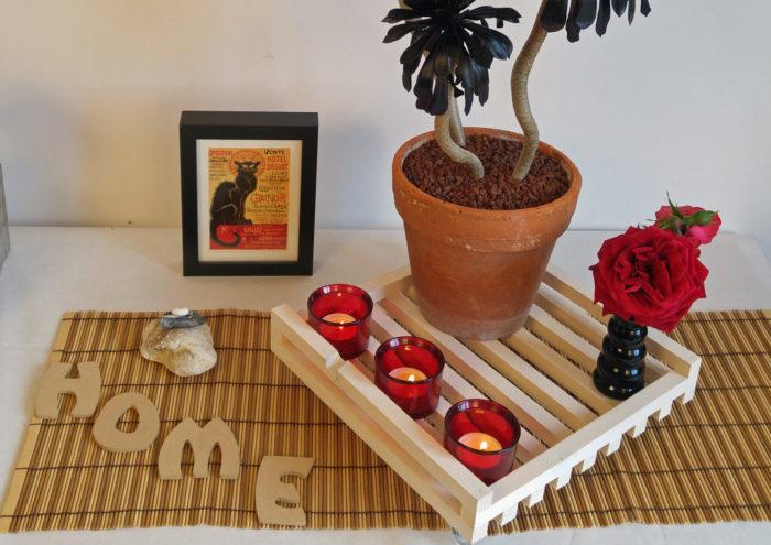 Support plante cèdre blanc, sans poignée
