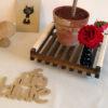 Support plante chêne, poignées coton