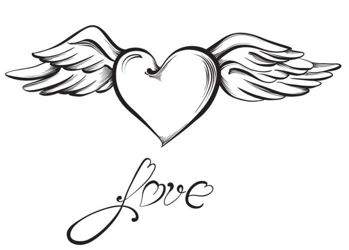 53584965 - valentine heart. hand drawn sketch style, vector illustration.
